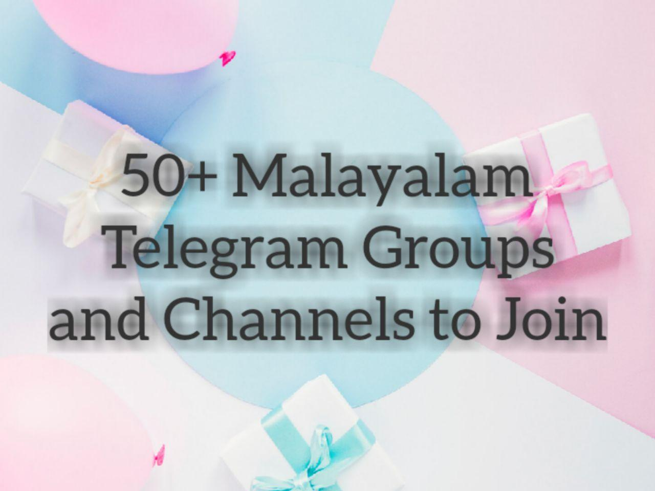 Malayalam Telegram Channels and Groups Link to Join
